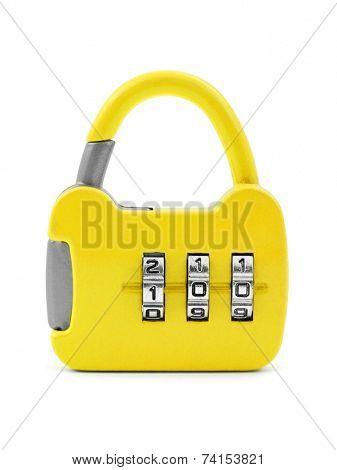 Lock like a handbag isolated on white background