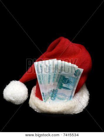 Red Cristmas Hubcap Santa