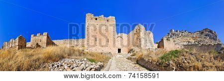Old fort in Corinth, Greece - archaeology background