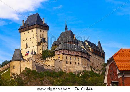 Royal castle Karlstejn in Czech Republic