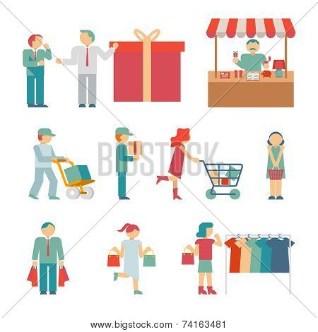 Vector Shopping Characters