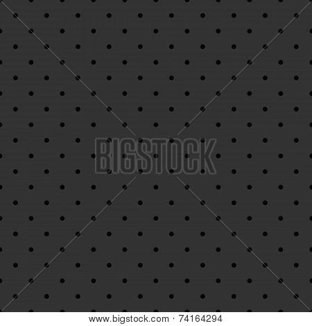 Seamless vector pattern with black polka dots on dark grey background