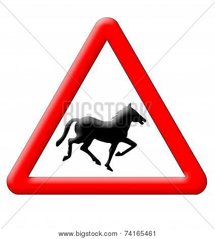 Horse Crossing Traffic Sign