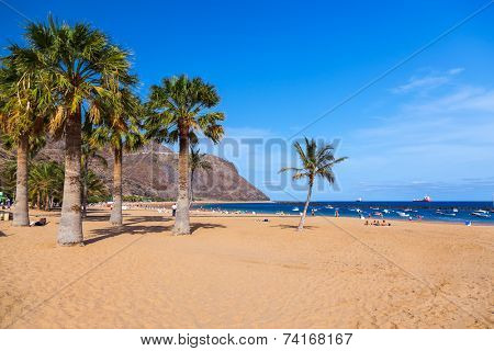 Beach Teresitas in Tenerife - Canary Islands Spain