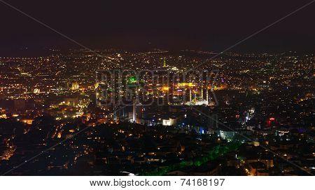 Ankara Turkey at night - architecture travel background