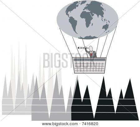 Business travel cartoon