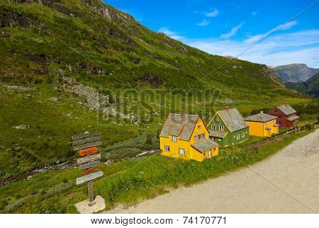 Flam in Norway - nature and travel background