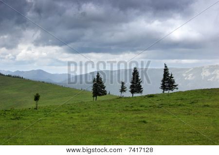 Cloudy Weather In Mountains