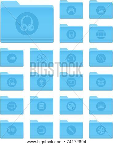 Folders With Multimedia Icons