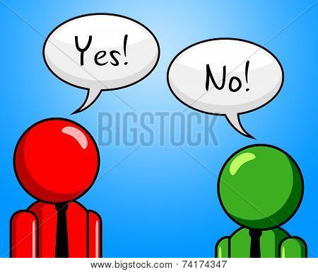 Yes No Shows Disapproval O.k. And Agreeing