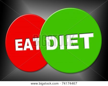 Diet Sign Indicates Lose Weight And Dieting
