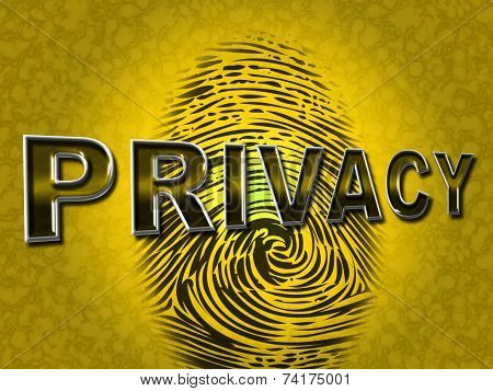 Privacy Fingerprint Indicates Login Unauthorized And Encrypt