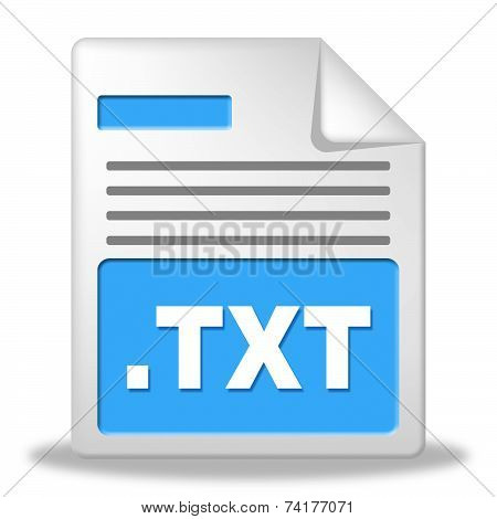 Text File Represents Folders Binder And Folder