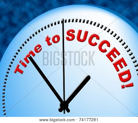 Time To Succeed Indicates At The Moment And Presently