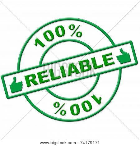Hundred Percent Reliable Means Absolute Depend And Relying