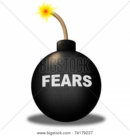 Fears Alert Shows Frightened Worry And Explosive