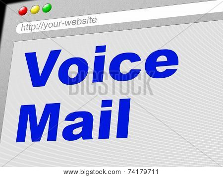 Voice Mail Represents Message System And Communicate