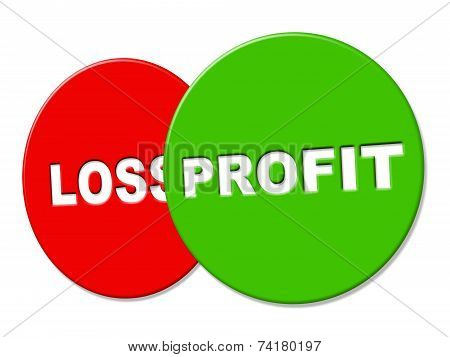 Profit Sign Means Earning Lucrative And Earnings