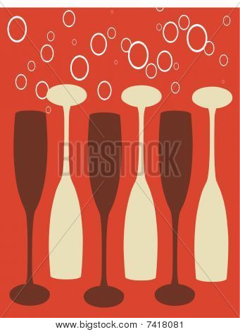 Abstract Wine Glas Background