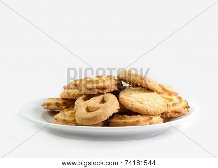 Danish Butter Cookies Isolated