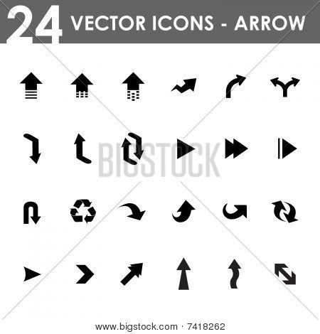 24 Pfeil-Symbole