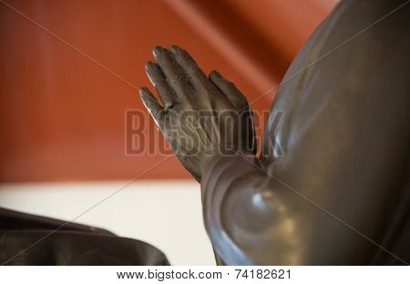 Statue  Put The Palms In Buddhism  Salute