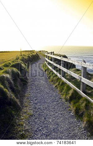 Gravel Path Along The Cliff Edge