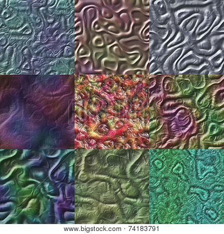 Set Of Organics Seamless Generated Textures