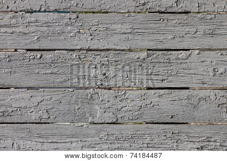 Grunge Painted Wooden Fence