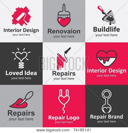 Home Repair Icons Vector Set