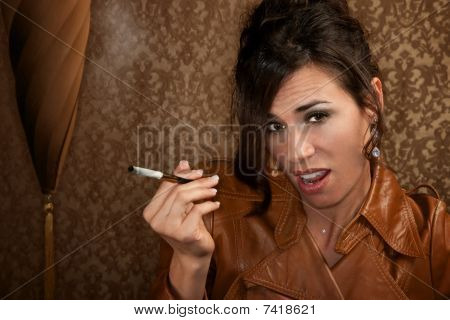 Woman With Cigarette