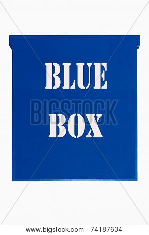 Blue Box On White Background