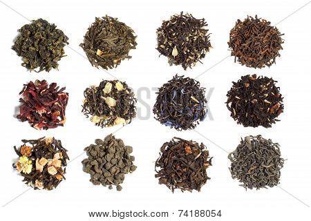 12 varieties of tea