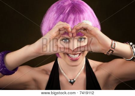 Woman With Purple Hair
