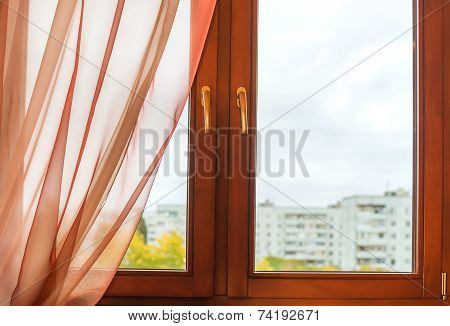 Window In Wooden Frame