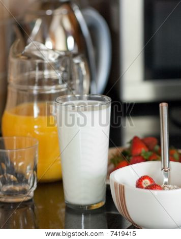 Close-up Of An Healthy Breakfast On A Table