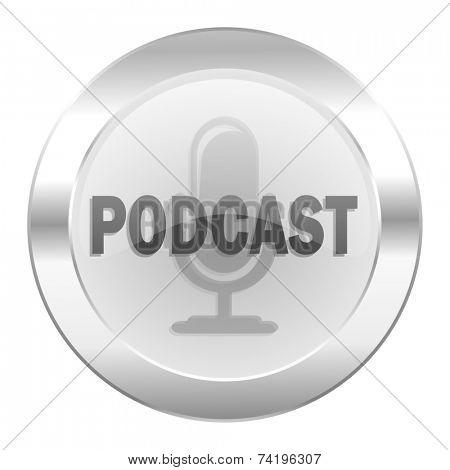 podcast chrome web icon isolated