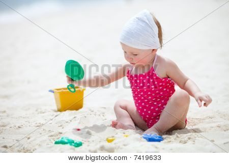 Toddler Girl On Vacation