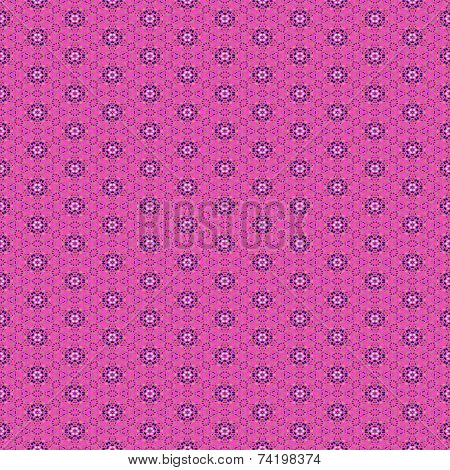 Abstract pink tileable ornamental mosaic pattern