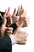 pic of business success  - Business people hands showing okay sign - JPG