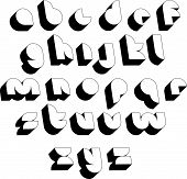 picture of verbs  - Futuristic black and white 3d font - JPG