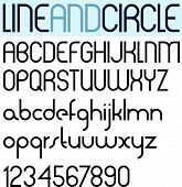 picture of verbs  - Poster thin circle black font and numbers - JPG