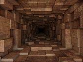 pic of tunnel  - dark metal tunnel - JPG