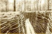 stock photo of world war one  - world war one trench belgium flanders bayernwald - JPG