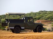 stock photo of  jeep  - Jeep for tourist safari in an National Park in Asia - JPG
