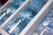 picture of garter  - Blue garter for the bride in box - JPG