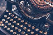 image of old vintage typewriter  - Antique Typewriter - JPG