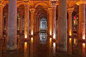 pic of cistern  - Underground water Basilica Cistern  - JPG