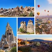foto of valley fire  - Collage of Cappadocia Turkey images  - JPG