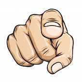 picture of uncle  - vector pointing finger or hand pointing icon isolated on white background - JPG